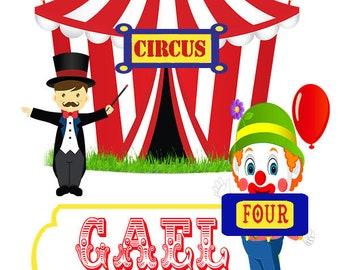 Circus Ticket Birthday Invitation