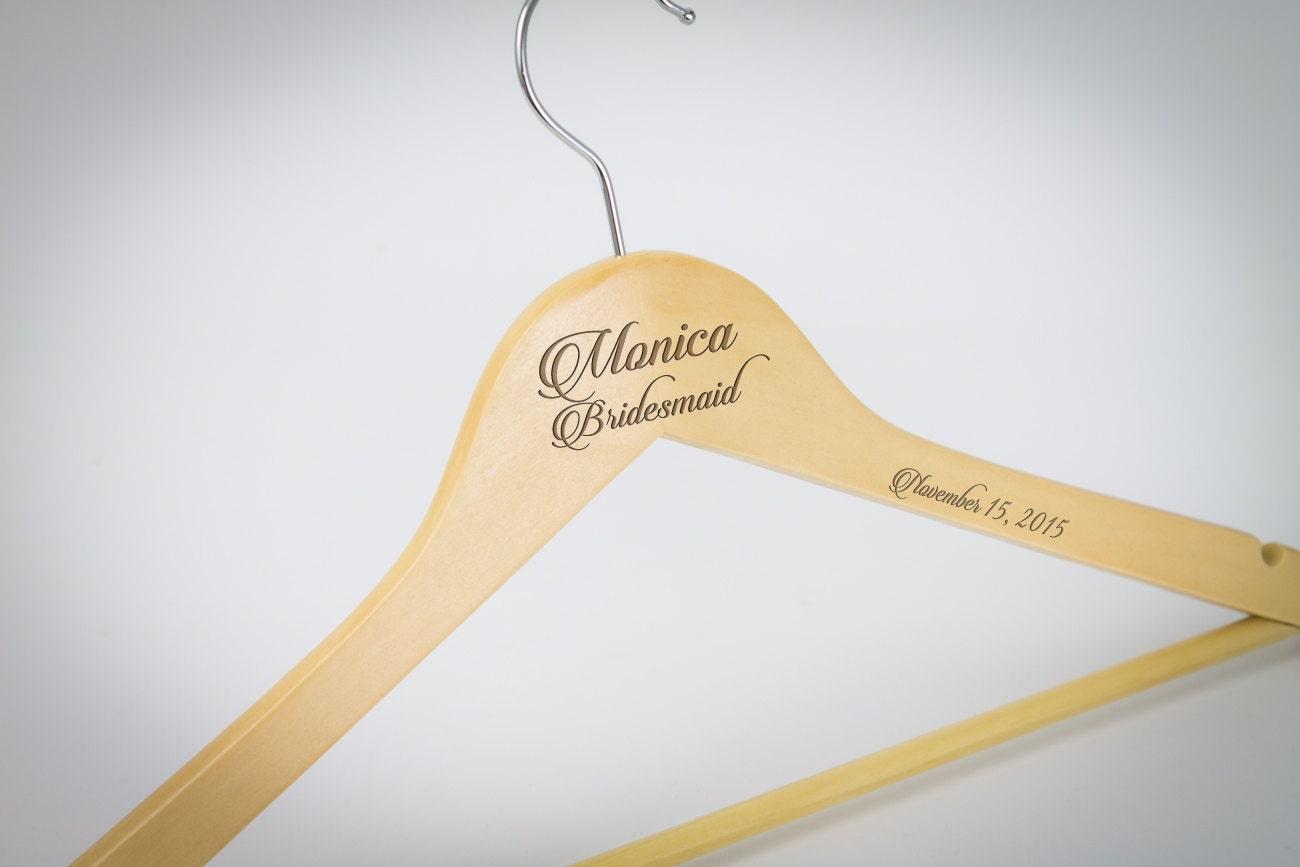 Brautjungfer Geschenk personalisierte Hochzeit Hanger