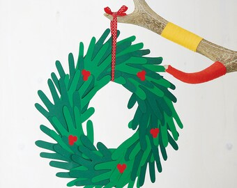 Make Your Own Paper Handprint Wreath