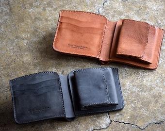 Roberu Bifold Shading Leather Wallet