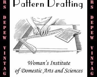 Sewing Pattern Drafting by the Woman's Institute 1916 How to Draft Sewing Patterns E-book-INSTANT DOWNLOAD
