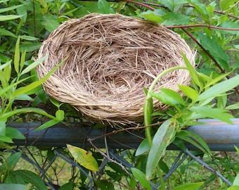 Man Made Bird Nest, Wheat Straw Faux Nest