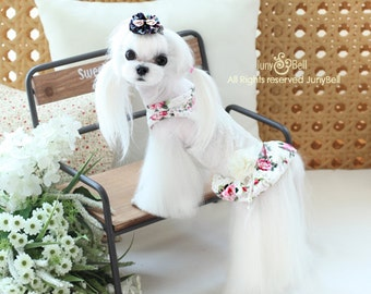 Rosey Beauty- Designer Handmade classic Dress/high fashion / Special Day / Party Dress for Pets / Free Shipping / luxurious dress
