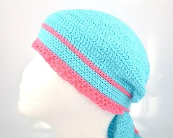Dorag for a beautiful woman, russian povoynik, summer hat, crocheted from cotton, crochet women hat, women sun hat, bandana, made in Russia