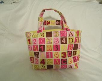 Small ABC 123 Block Tote/ Diaper Bag