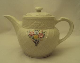 Vintage Hall China Enterprise Aluminum Drip O Lator Coffee Pot Teapot Trellis