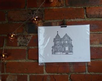House - Linocut