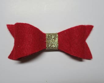 Big felt bow. Oversized red bow, red felt hairbow, baby red bow, red bow headband, newborn hair bow, headbands for newborns