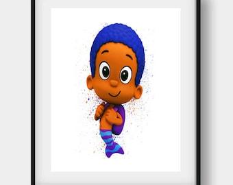 Bubble Guppies, Bubble Guppies Print, Bubble Guppies Gift, Goby Printable, Goby Disney, Goby Art, Goby Print, Nursery Wall Art, Kids Art