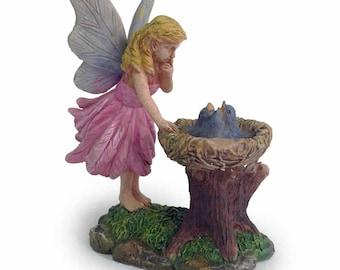 Bluebird Nest w/Fairy - Miniature Fairy Garden Supply