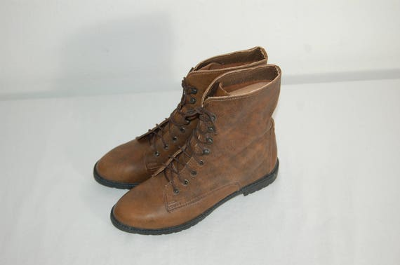 Women Ankle Cute Brown Vintage 1 80s 5 2 Size Footnotes Boots NEW rUfqrx