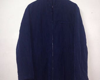 Rare!!! Sisley Parka Jacket Rayon Made In Italy Designer Brand