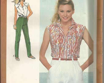 Vintage Simplicity 9552  Shirt, Shorts and Pants Pattern SZ 6 & 8  CLEARANCE ITEM
