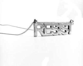 RESIST Necklace- Sterling Silver USA Made