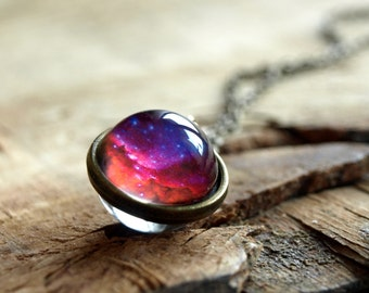 Universe necklace, Space necklace, Nebula necklace, Nebula pendant, Space jewelry, outer space, constellation , Planet necklace, Galaxy
