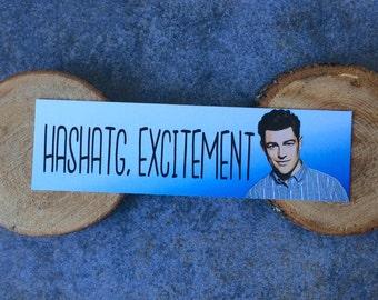 Schmidt Bookmark - Hashtag, Excitement
