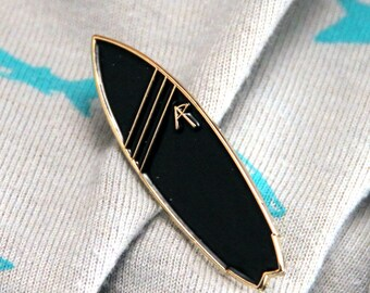 Surfing Lapel Pin, Surf Board Pin, Surfing Tie Pin, Surf Bard Tie Tack, Groomsman Gift - By Adventure Pins