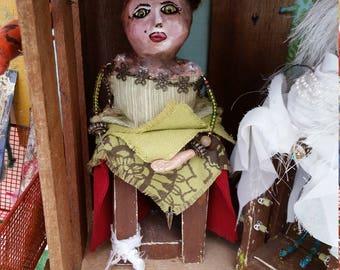 Art doll. Mixed media. Ooak.