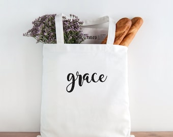 Grace, Grace Tote, inspirational, thankful, hostess gift, christmas gift, birthday gift, holiday gift