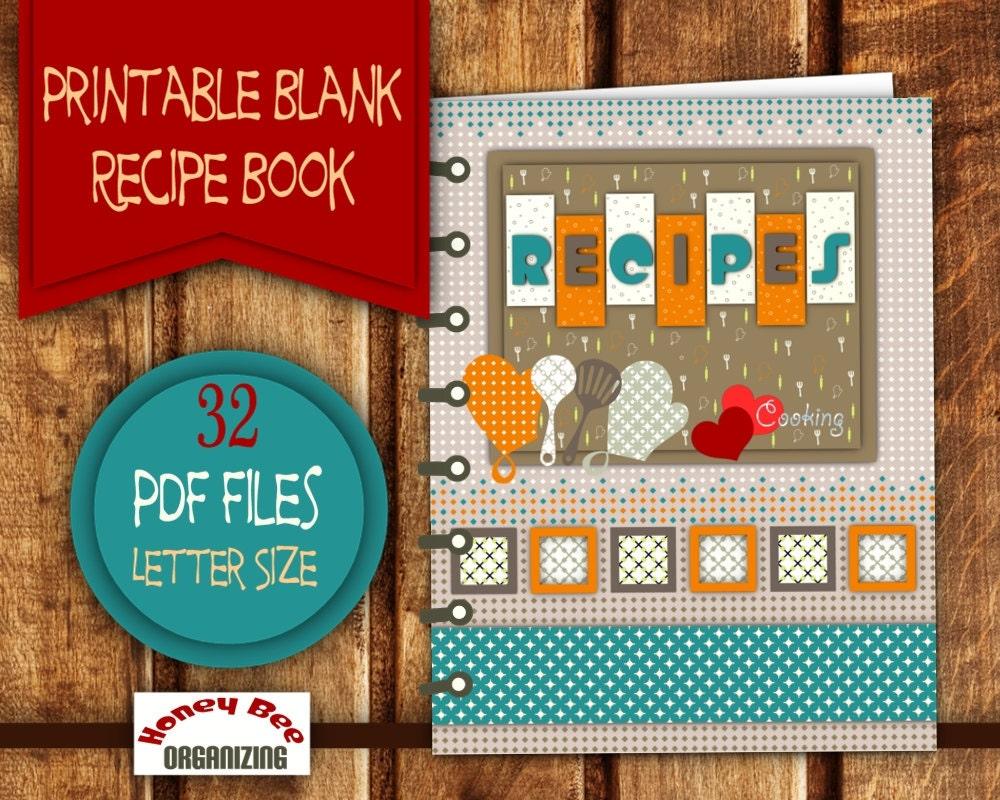 DIY Printable Recipe Book Recipe Binder Printable Set