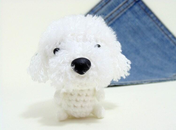 Amigurumi Dog Crochet Patterns : Amigurumi bichon frise crochet dog. cute bichon frise