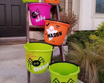 Personalized Trick or Treat Buckets