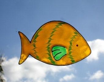 SALE SALE SALE- Fish/Orange- Family Window Art