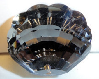 30mm Celestial Crystal Black Silver Midnight Shell Prism Pendant Drop Charm