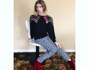 80s sequin knit sweater