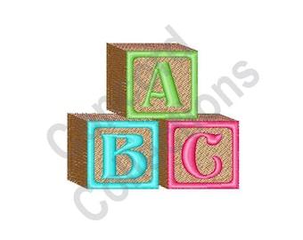 Baby Blocks Machine Embroidery Design