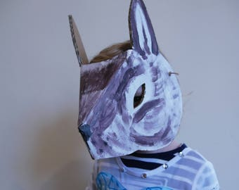 Painted or personalized rabbit mask