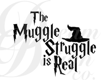Harry Potter (Muggle Struggle) Design for Silhouette Studio, Cut Files, Clip Art, INCLUDES SILHOUETTE FILE