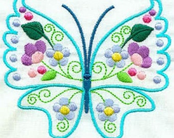 Gorgeous Butterflies - INSTANT DOWNLOAD - Machine Embroidery - 4x4 hoop