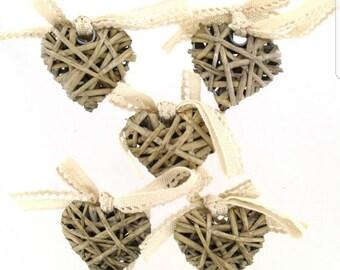 Decorative Wicker Hearts
