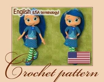 Blueberry Muffin - Amigurumi Crochet Doll Pattern PDF file by Anna Sadovskaya