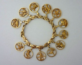12 Days of Christmas Charm Bracelet - Handmade in Sterling or Gold