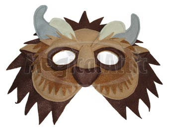 Children's Beauty and the Beast Handmade BEAST Felt Mask