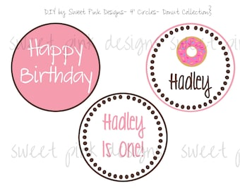 """4"""" Party Circles- Donut Party Collection"""
