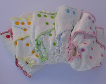 Bamboo fitted diaper / Bamboo velour fitted diaper / Cloth diaper / Bamboo nappy