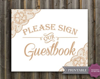 Guestbook wedding sign, wedding signage, wedding sign, Printable File - 8 x 10 in. INSTANT DOWNLOAD