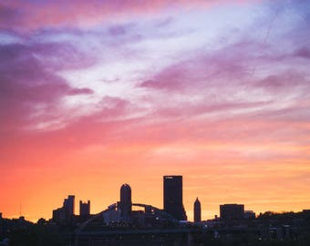 Soft Sunset over Pittsburgh (photography, Pittsburgh, photo)