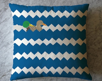 Pillow with Ducks and Zigzag Pattern. June 23, 2016