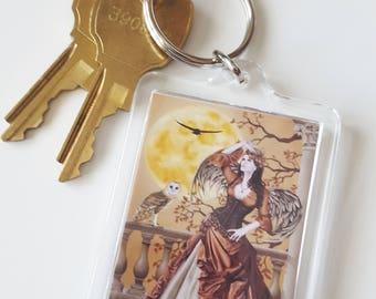 Owl Fairy Acrylic Key Chain - Hunter's Moon