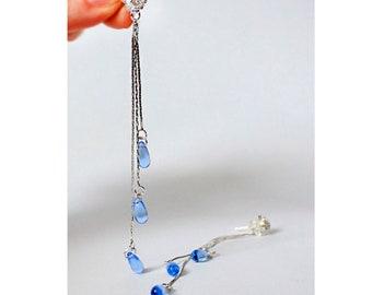 light blue matte studs earrings bright blue earrings silver jewelry flower studs пя126