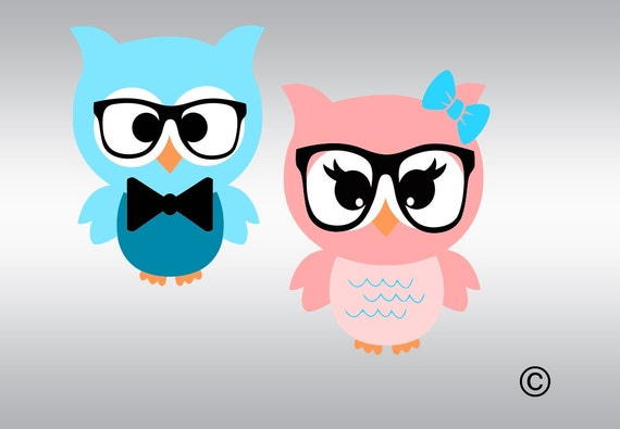 Owl svg Owl clipart Baby owls svg Owl decal Owl with bow