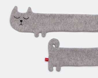 Katze Lammwolle Schal - auf Bestellung