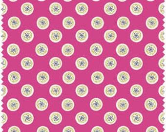 Buttons - Magenta (FAFFX3-7) Fabric Freedom Fabric Yardage