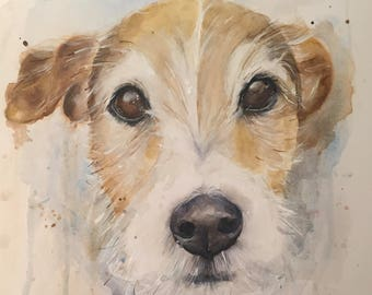 Custom Dog Portrait in Watercolour