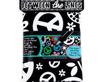 Between the Lines - Peace Signs and Flowers