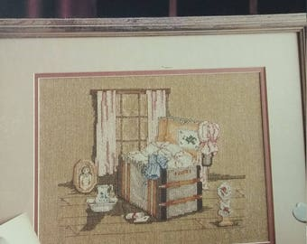 Long Ago counted cross stitch leaflet by Leisure Arts